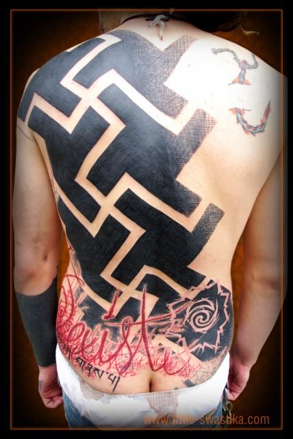 big swastikas