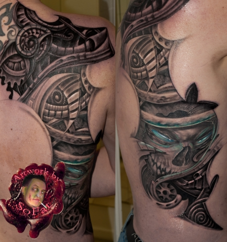 biomech-Tattoo: biomech cover by SoFat