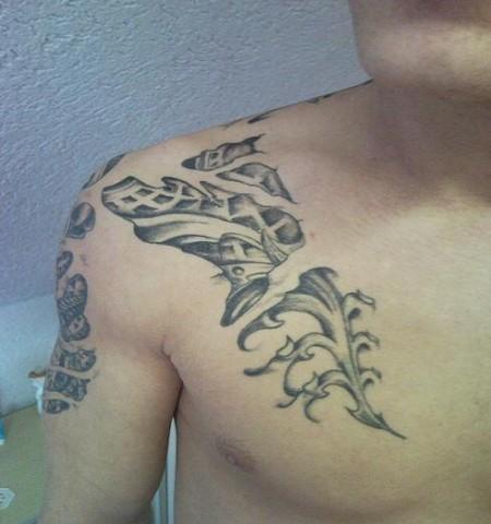 tattoos zum stichwort pfote tattoo lass. Black Bedroom Furniture Sets. Home Design Ideas