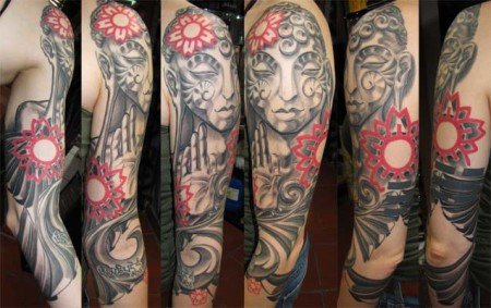 buddha-Tattoo: Buddha Tattoo am Arm