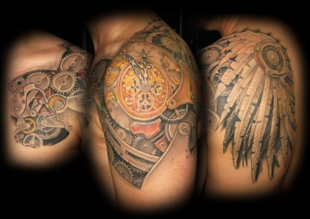 biomechanic-Tattoo: Clockwork Biomechanic