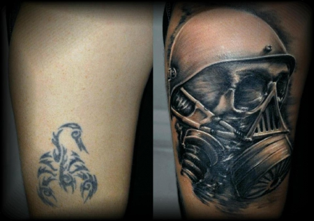 cover-Tattoo: cover up