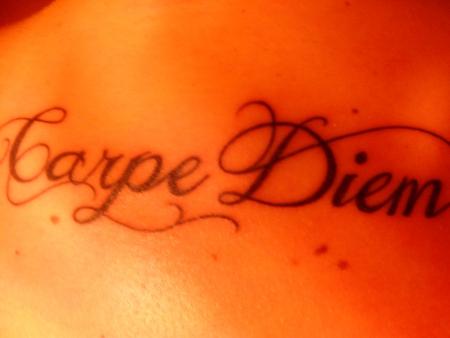 carpe diem-Tattoo: Carpe Diem