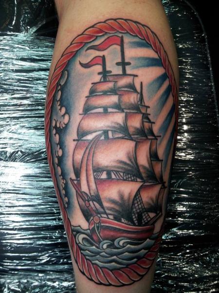 Mein 1. Tattoo: Segelschiff