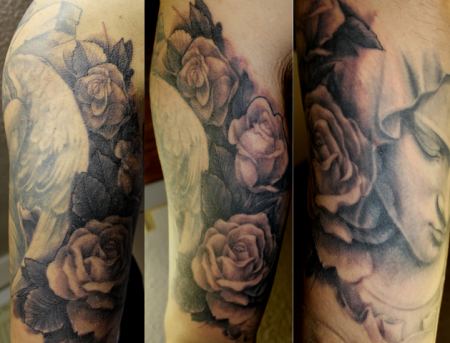 rosen-Tattoo: Rosen als Übergang