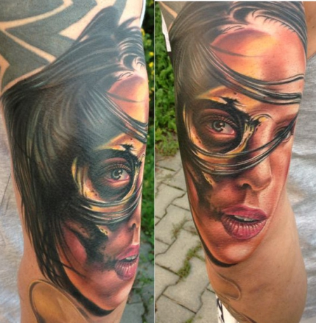 Woman (color, Tribal Cover Up)