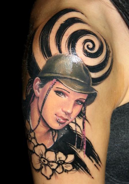 blüten-Tattoo: ...