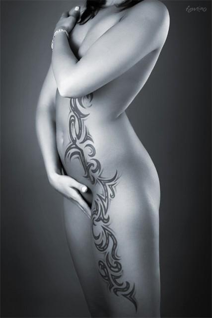 tribal-Tattoo: Tribal  2 sitzungen