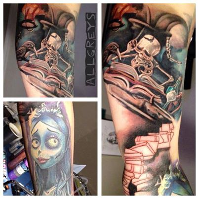 Corpse Bride -Teilcover-up Sleeve - noch in Arbeit :-)