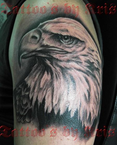 adler-Tattoo: Adlerkopf