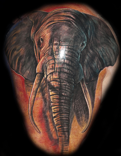elefant-Tattoo: Elefant