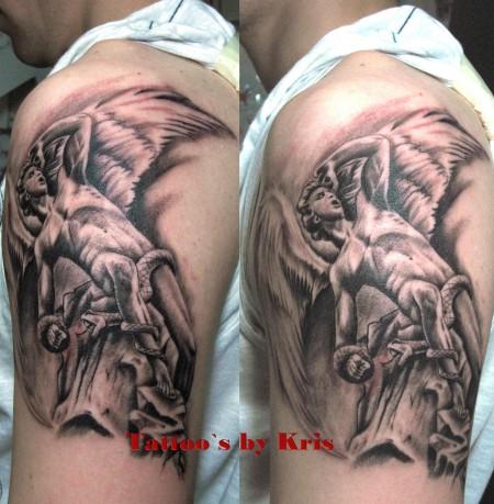 Tattoo teufel vs engel