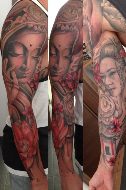 sleeve-Tattoo: Asia Sleeve