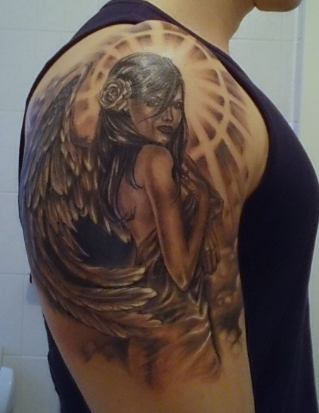 flügel-Tattoo: Engel