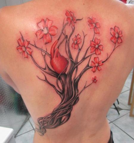 Baum + Herz Teil 1 Tattoo