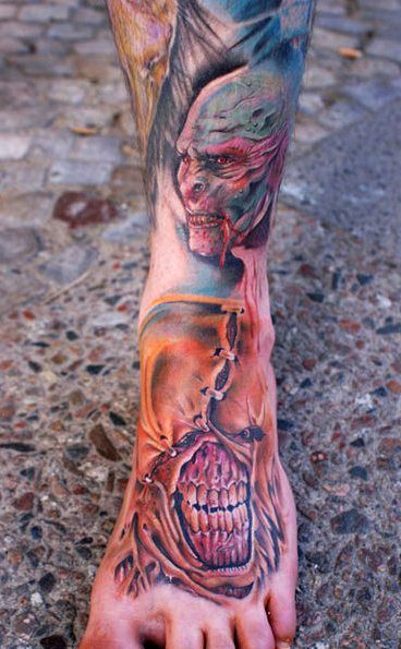 spinne-Tattoo: Illustration in Skin