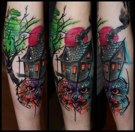 gaboa-Tattoo: Nachteule