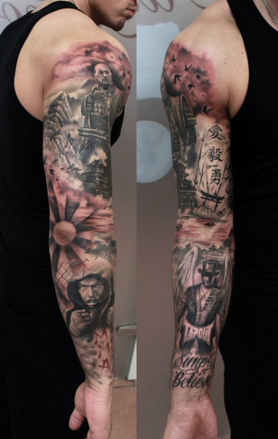 tattoo vorlagen arm komplett coole tattoos fr frauen und. Black Bedroom Furniture Sets. Home Design Ideas