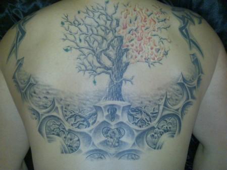 lebensbaum-Tattoo: Lebensbaum...