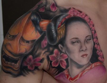 blüten-Tattoo: geisha