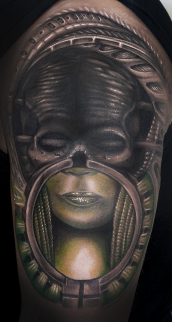 giger half sleeve by SoFat