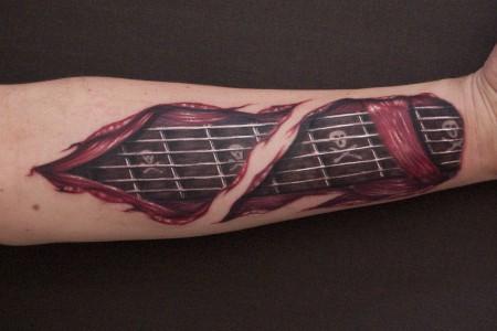 gitarre-Tattoo: Gitarre