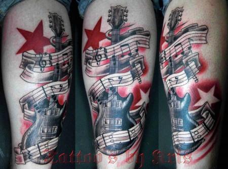 Gitarre mit Sternen