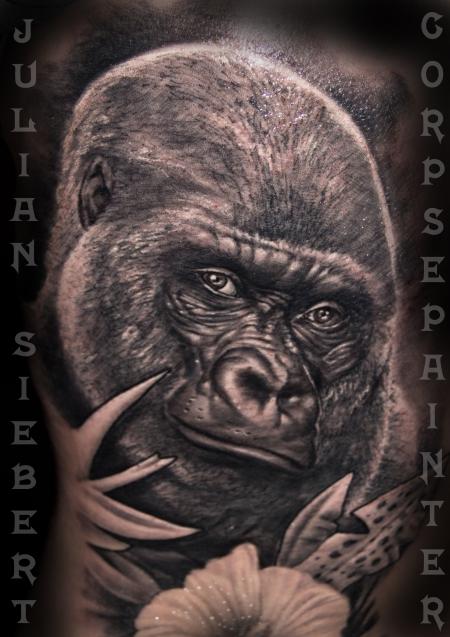 Gorilla Portrait von Julian Siebert