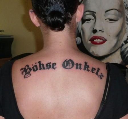 böhse onkelz-Tattoo: Böhse Onkelz