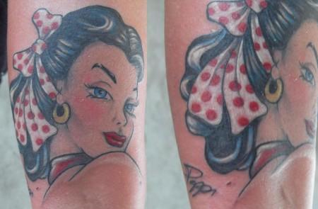 pin-up-Tattoo: Mein neuestes...Oldschool von Peppi :-)