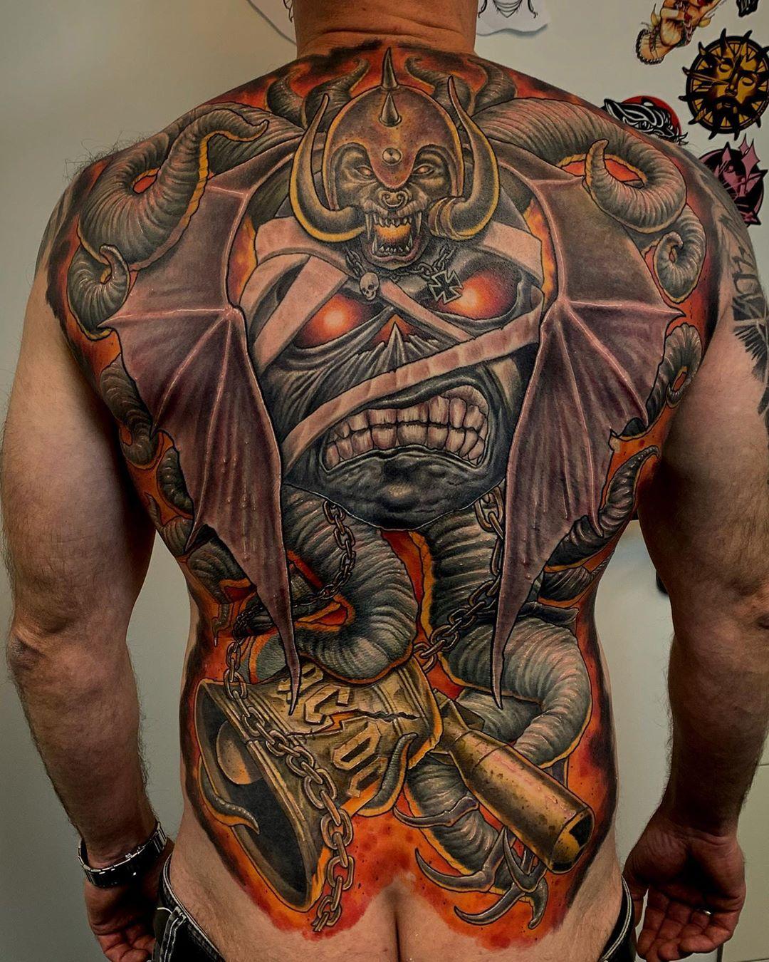 Tattoo mann rücken Rücken Tattoo