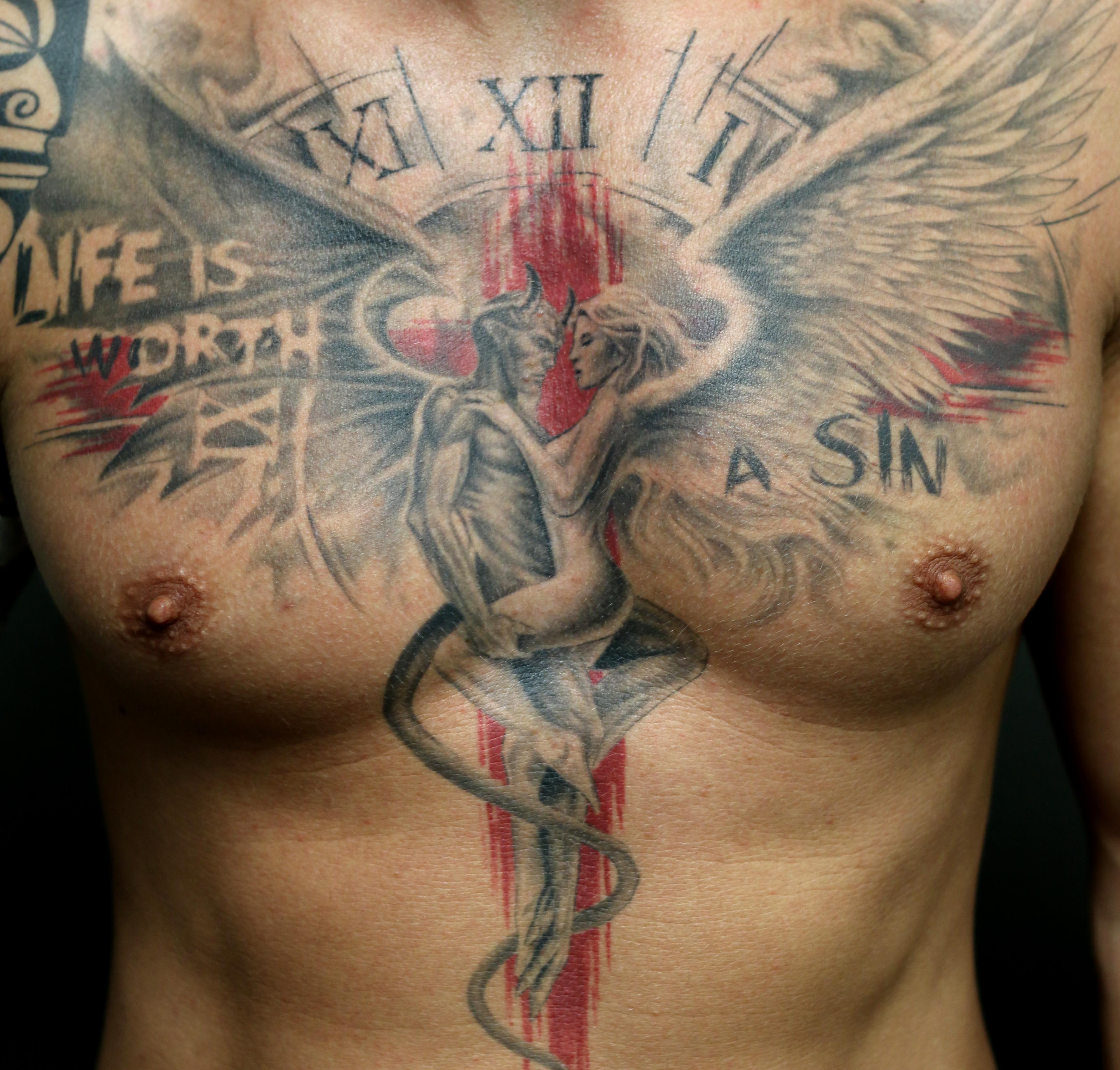 Ansprechend Tattoo Motive Engel Sammlung Von Teufel Und   Tattoos Von Tattoo-bewertung.de