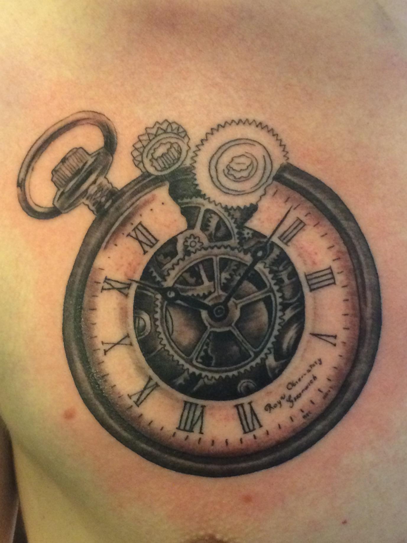 Tobiho Taschenuhr Zahnrad In Progress Tattoos Von Tattoo