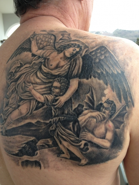 schutzengel-Tattoo: Schutzengel