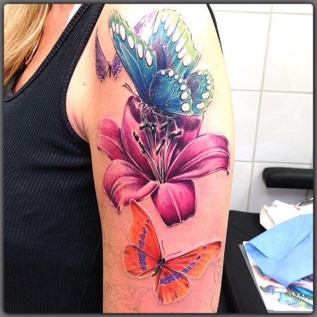 cover-Tattoo: Beginn Half Sleeve und Cover