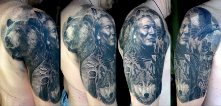 indianer-Tattoo: Indianer