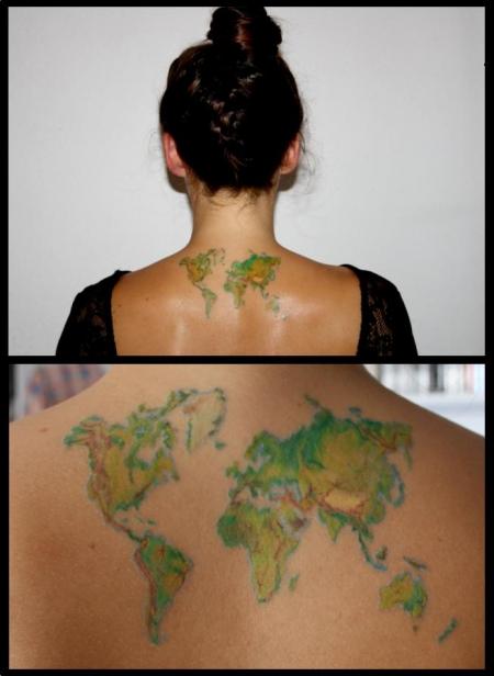Ni Kollsche Weltkarte Tattoos Von Tattoo Bewertung De