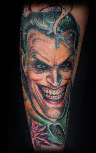 joker-Tattoo: comic Joker