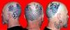 Kopf Tattoo,Totenkopfmit Spinne