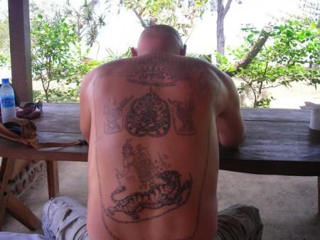 traditionelles Thai Tattoo