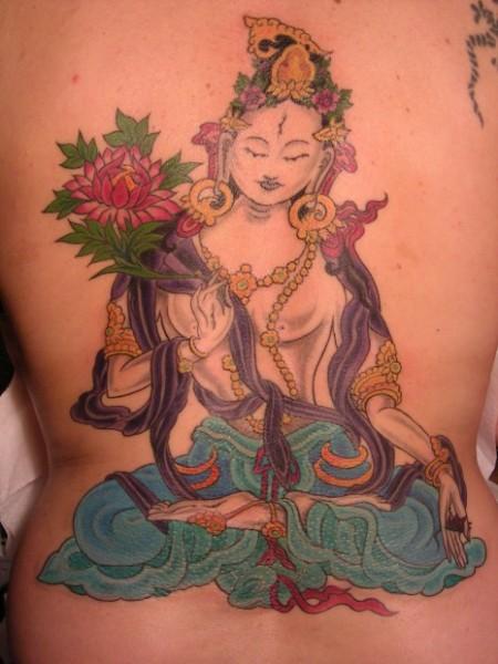 Weiße Tara - Göttin - Tibet