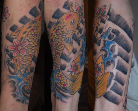 koi karpfen-Tattoo: Japanischer Koi Karpfen