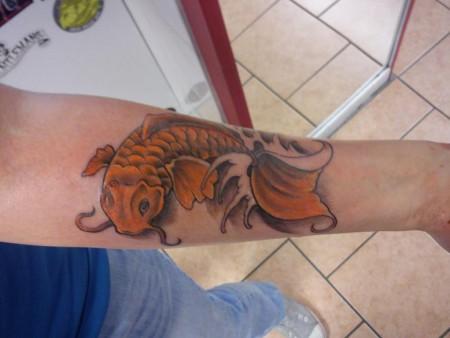 koi karpfen-Tattoo: Unterarm Koi