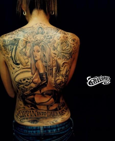 Rücken Tattoo (frau)
