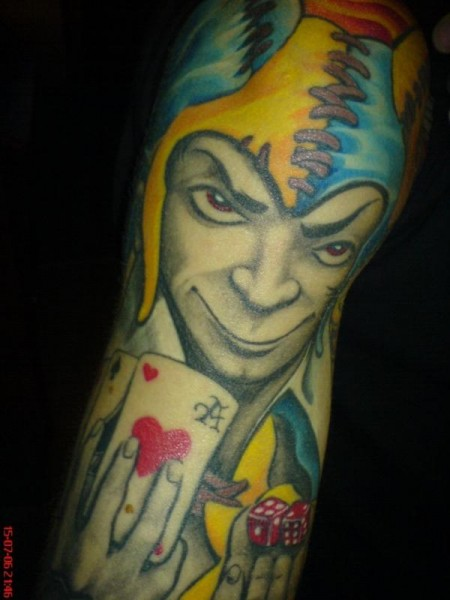 gamble-Tattoo: JOKER - by IGL ( Stichtag Graz )