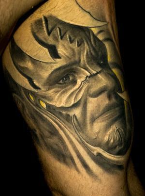 victor portugal-Tattoo: bio-face-selbstpoträt-
