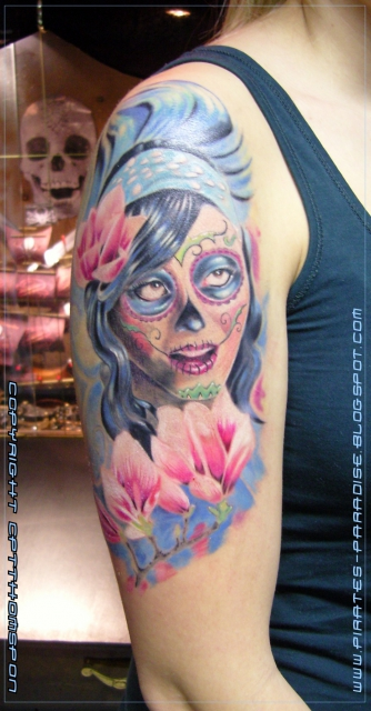 suchergebnisse f r 39 la catrina 39 tattoos tattoo lass deine tattoos bewerten. Black Bedroom Furniture Sets. Home Design Ideas