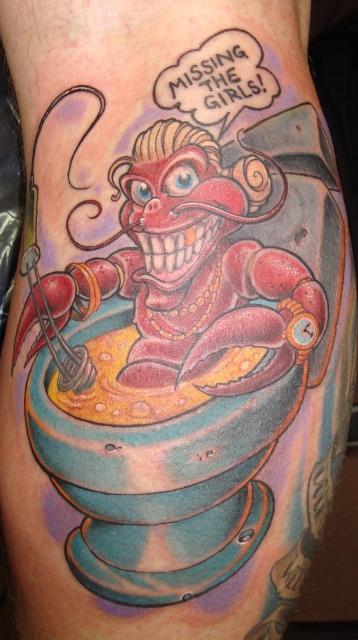 zuh lter hummer im whirlpool tattoos von tattoo bewertungde. Black Bedroom Furniture Sets. Home Design Ideas