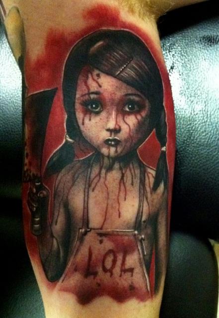 mädchen-Tattoo: LOL