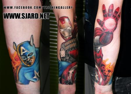 Marvel sleeve - by Sjard, Trioxin Gallery, Frankfurt